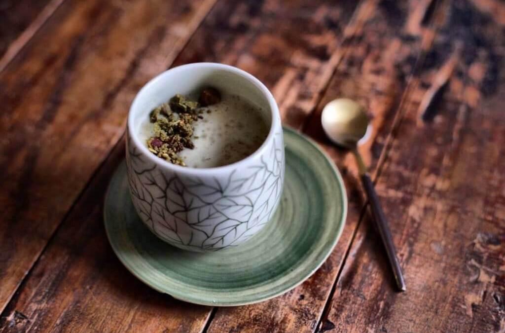 Smoothie parfumé au thé matcha