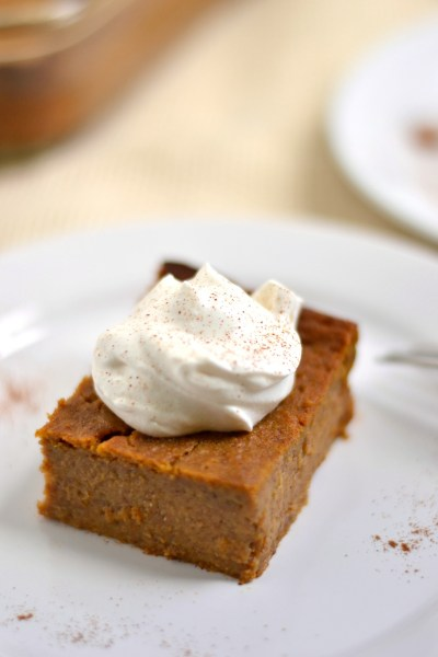 Crustless Pumpkin Pie Bars Image