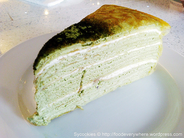 green tea slice