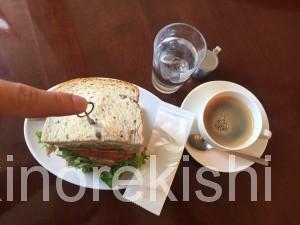 茗荷谷デカ盛りカフェキノーズマンハッタンニューヨークアメリカンクラブハウスサンドイッチコーヒー朝食ヘルシーメニュー9