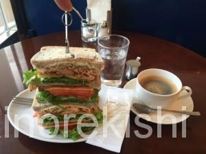 茗荷谷デカ盛りカフェキノーズマンハッタンニューヨークアメリカンクラブハウスサンドイッチコーヒー朝食ヘルシーメニュー10