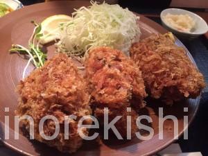 人形町デカ盛り三友爆弾カキフライ定食ランチ巨大ご飯大盛り牡蠣フライ行列15