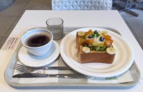 日本橋三越前朝食モーニング千疋屋総本店カフェディフェスタ高級フルーツたっぷりシナモントースト14