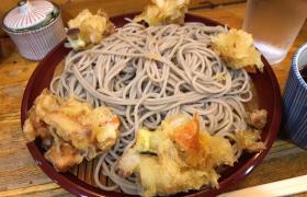 東銀座立ち食いそば歌舞伎そばもりかき揚げそば大盛り蕎麦メニューデカ盛り進撃の歴史19