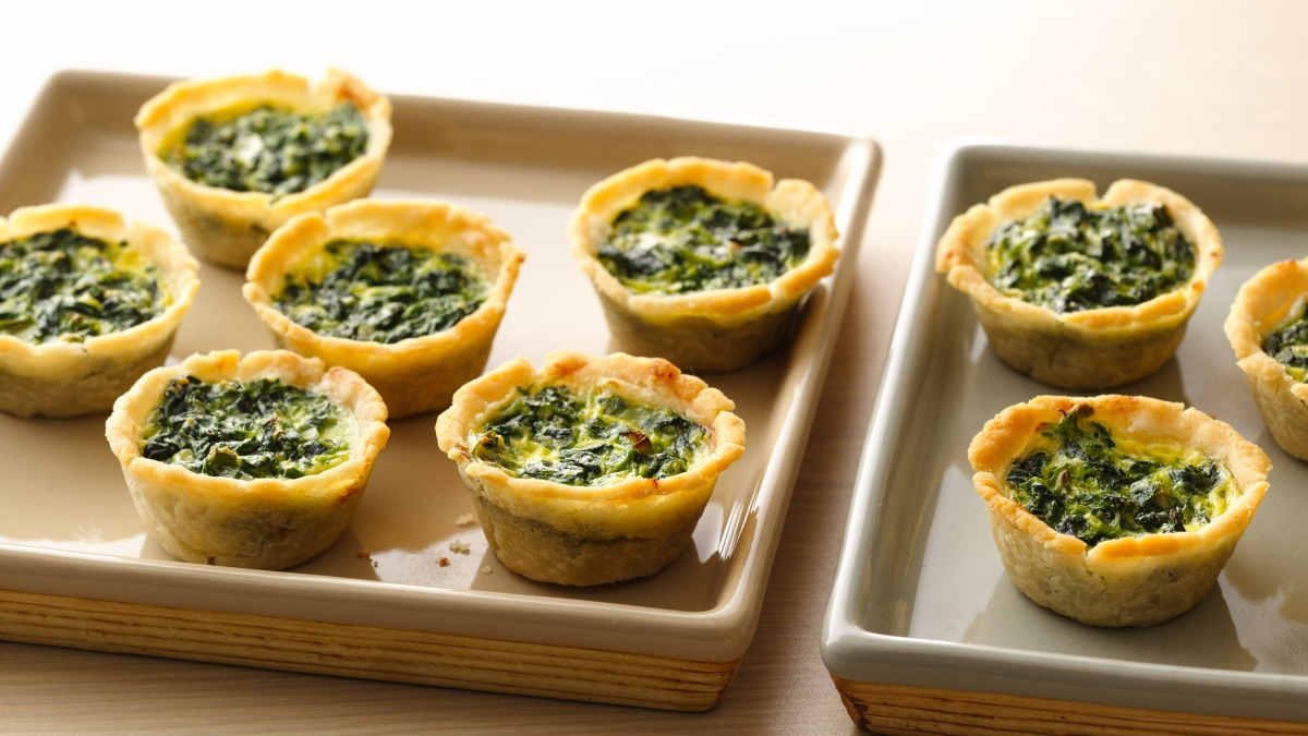 Gluten Free Spinach Mini Quiches
