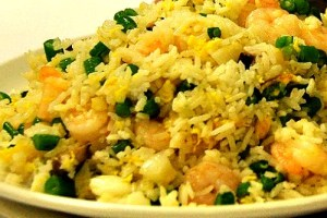 How to cook Oriental Egg Fried Rice with Shrimp