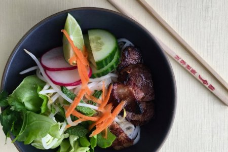 Vietnamese Rice Noodle Salad with Marinated Pork
