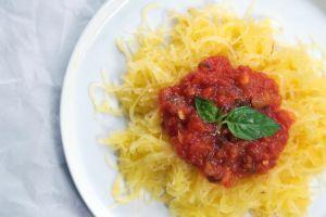 """Spaghetti"" Squash with Quick Marinara"