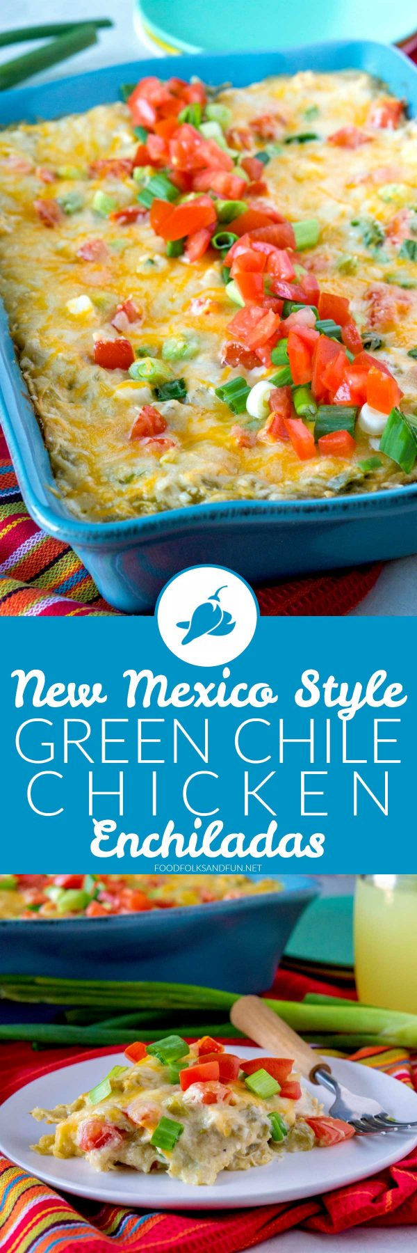 My favorite green chile enchiladas!