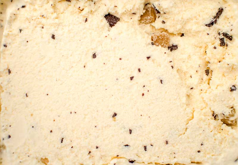 Chocolate Chip Cookie Dough Ice Cream with a lot of of cookie dough chunks and chocolate chunks.
