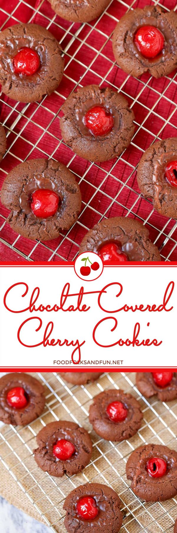 Best Chocolate Covered Cherry Cookies