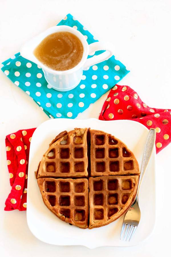 Delicious, homemade Gingerbread Waffles