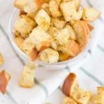 Versatile homemade croutons recipe.