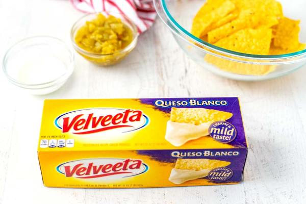 Ingredients for Velveeta Queso Blanco Dip