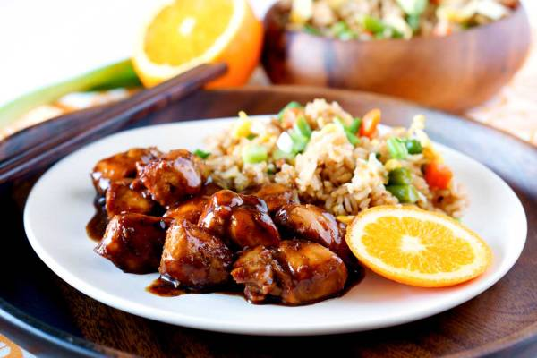 Healthy Orange Chicken made in 30 minutes.
