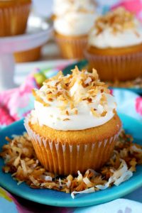 Best Coconut Cupcakes with Coconut Swiss Meringue Buttercream