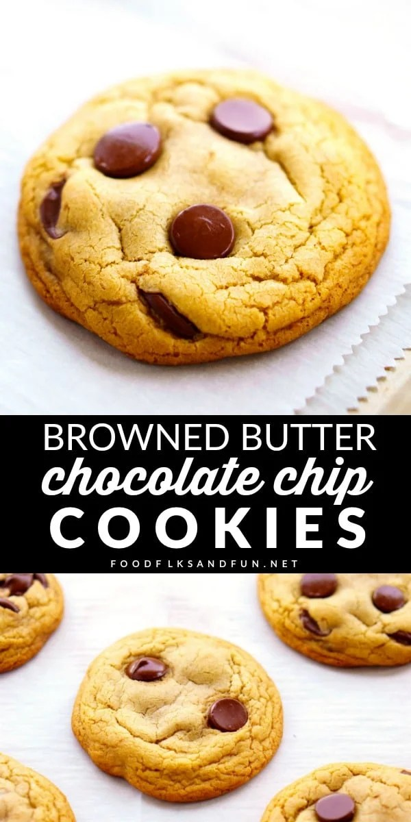 This Chocolate Chip Cookie recipe isn't great, it's PERFECT! Delicious, crusty crackle, chewy middle, and rich butterscotch undertones! via @foodfolksandfun