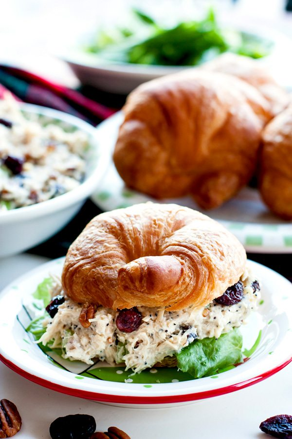 Cranberry Chicken Salad on a croissant.