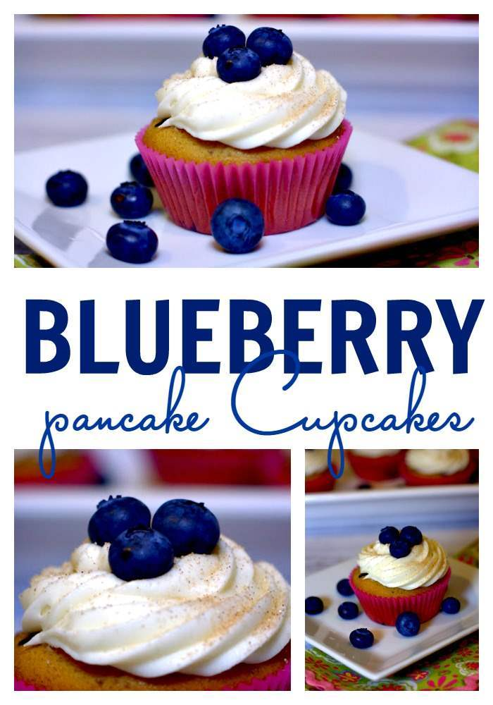 These Blueberry Pancake Cupcakes are everything you love about blueberry pancakes but in cupcake form! via @foodfolksandfun