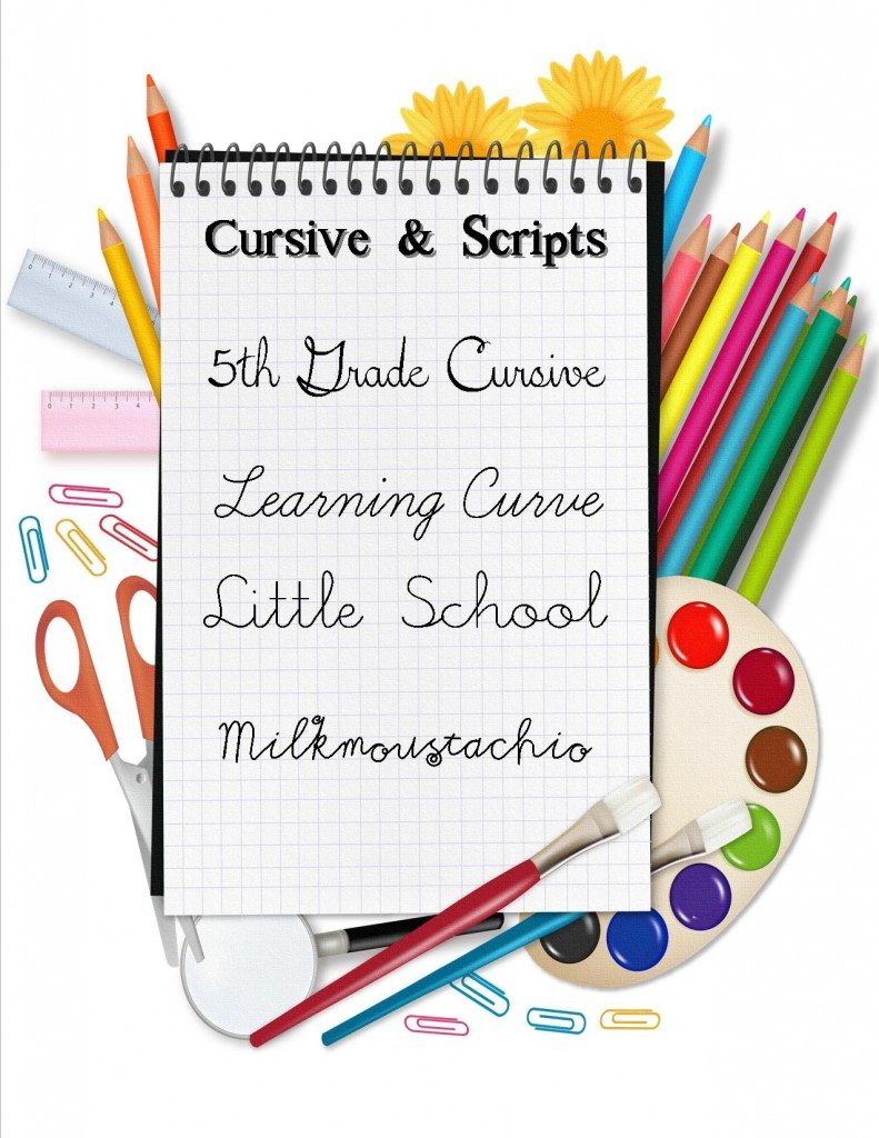 clip art for free back to school fonts