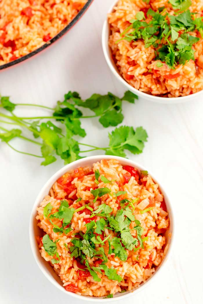 Mexican rice side dish for any Mexican entree.