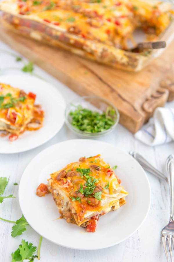 Mexican Lasagna for an easy weeknight meal.