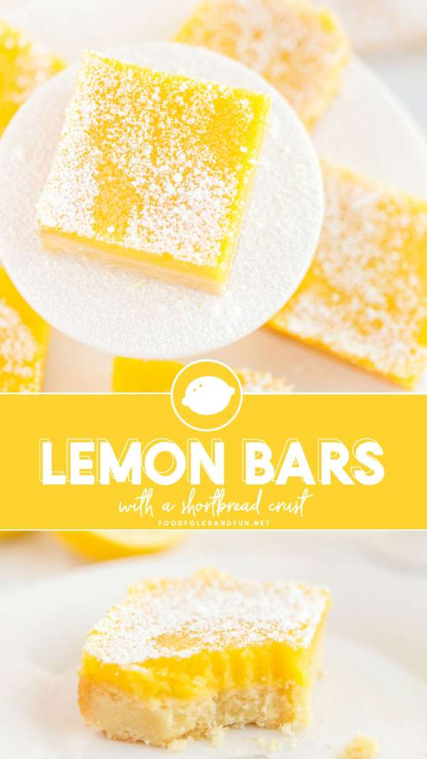 Best-ever Lemon Bars recipe. It's a ll about the shortbread crust!