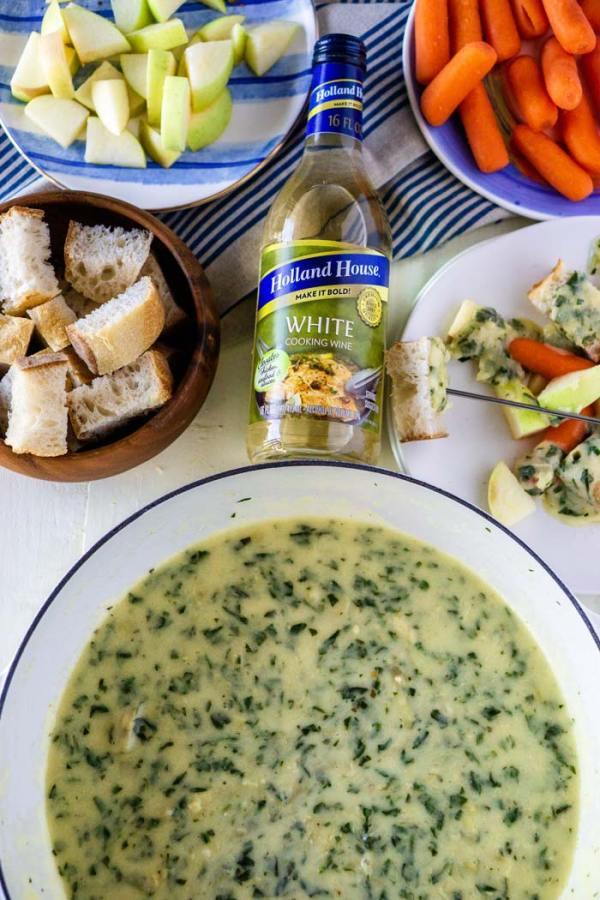 The best Spinach Artichoke Cheese Fondue