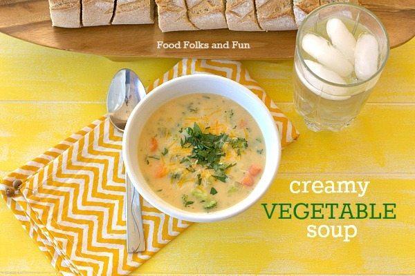BEST Creamy Vegetable Soup