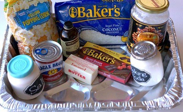 Chocolate_Drizzled_Coconut_Macaroon_Popcorn_Ingredients_#KraftEssentials_#shop