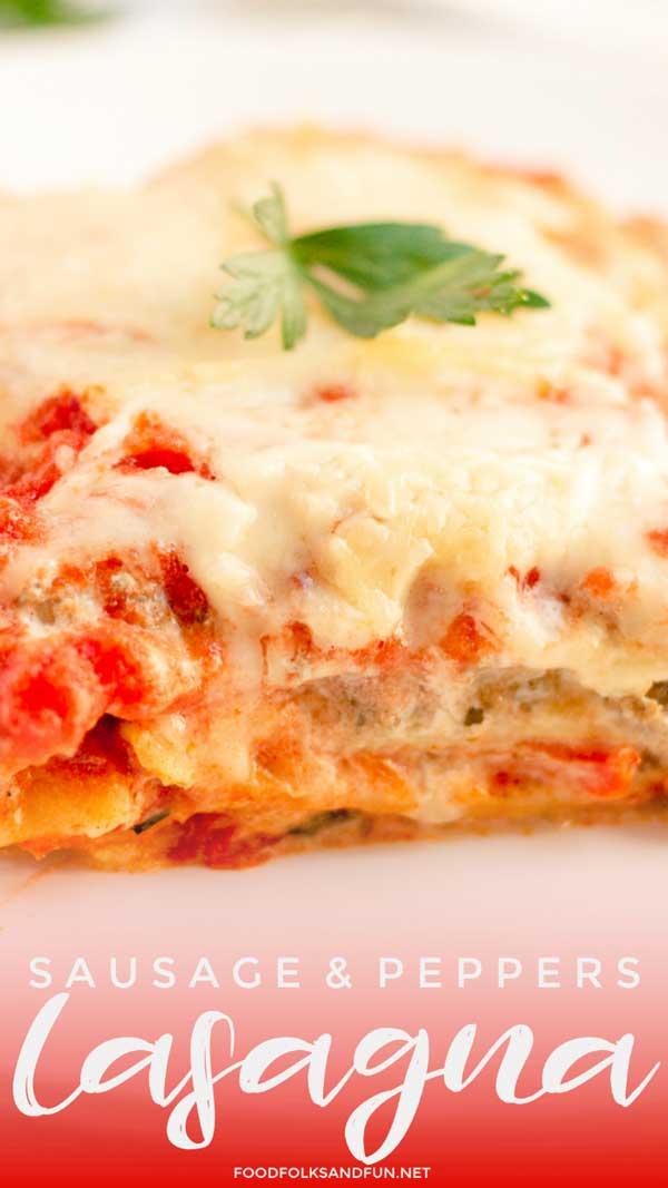 Cheesy Lasagna with Italian Lasagna