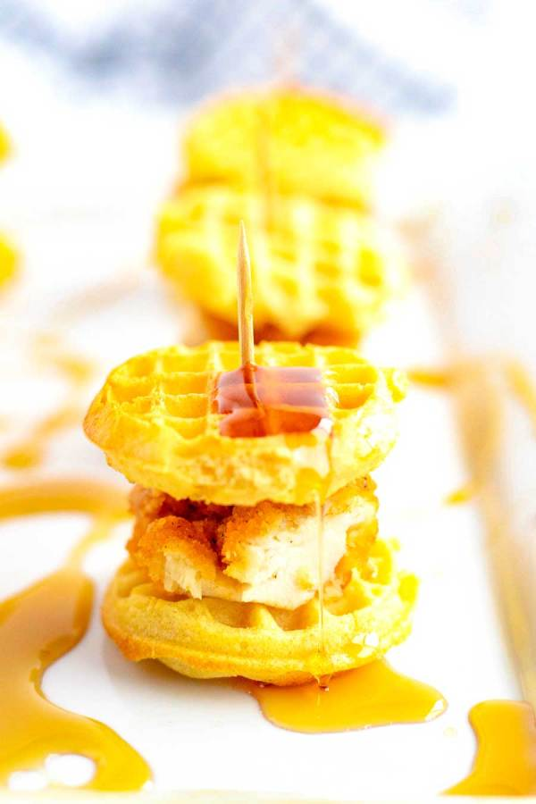 Simple Chicken and Waffle Sliders