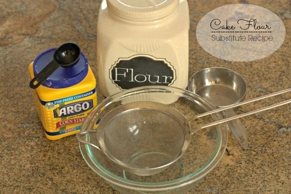 Everything you need to make your own cake flour.