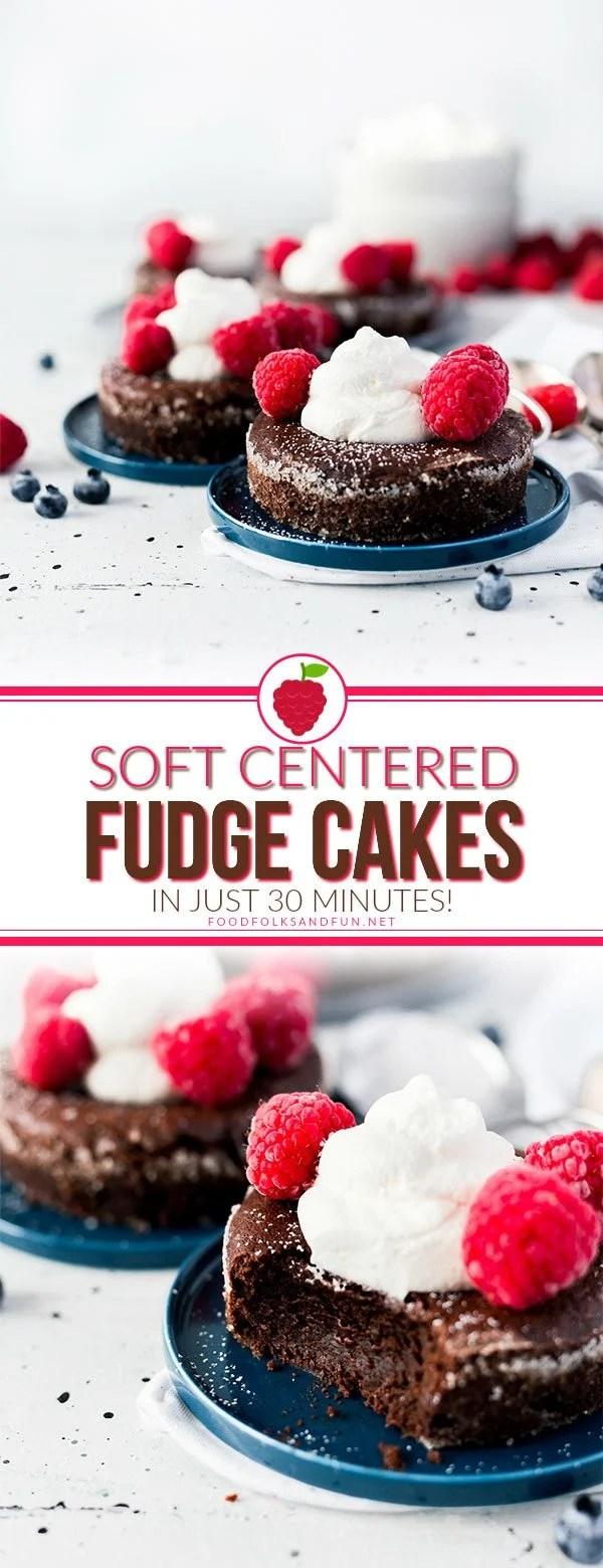 Best-ever Soft Centered Fudge Cakes!
