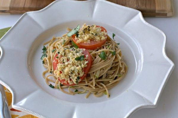 Tomato Parmesan Basil Pasta with Zucchini