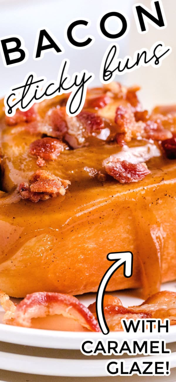 These Sticky Buns with Bacon and Caramel Glaze are irresistible. Bacon makes everything better, and that's why I've added bacon inside the buns and sprinkled on top. The best part is that these cost just 65¢ per sticky bun to make! via @foodfolksandfun