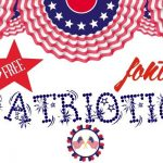 Clip art for Free Patriotic fonts