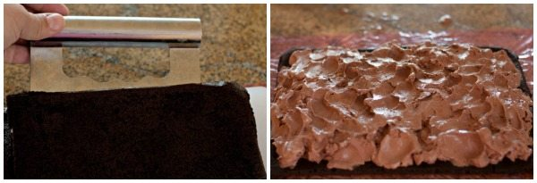 Put the ice cream on the sandwich bottoms.