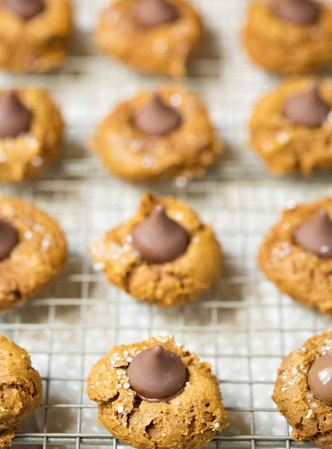 Quick and Easy Four Ingredient Pumpkin Blossom Cookies