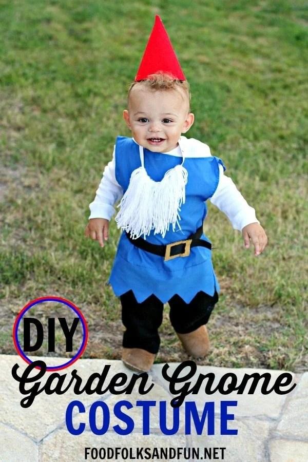 DIY Boy Garden Gnome Costume 1