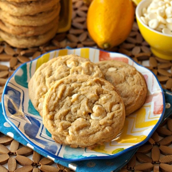 Lemon White Chocolate Chip Pudding Cookies
