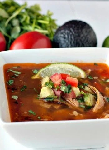 a bowl of Easy Chipotle Chicken Tortilla Soup