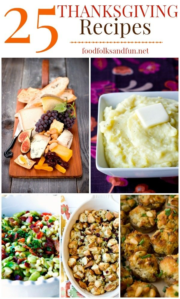 A collage of various Thanksgiing recipes