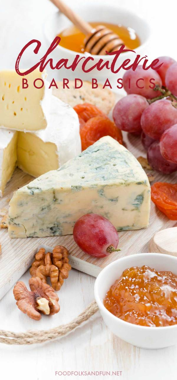 See how to make a delicious spread of fine imported cheese served with fruit, nuts, bread, and crackers for Thanksgiving, Christmas, or any get together in this Charcuterie Board Basics: Tips for the Perfect Spread post.