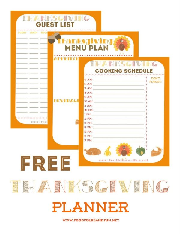 Free Thanksgiving Planner