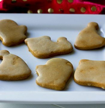 A plate of Gingerbread cookies with orange glaze