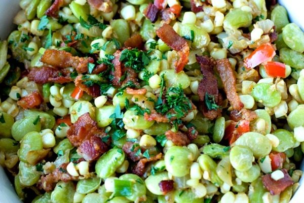 Succotash Recipe with Bacon and Scallions 2