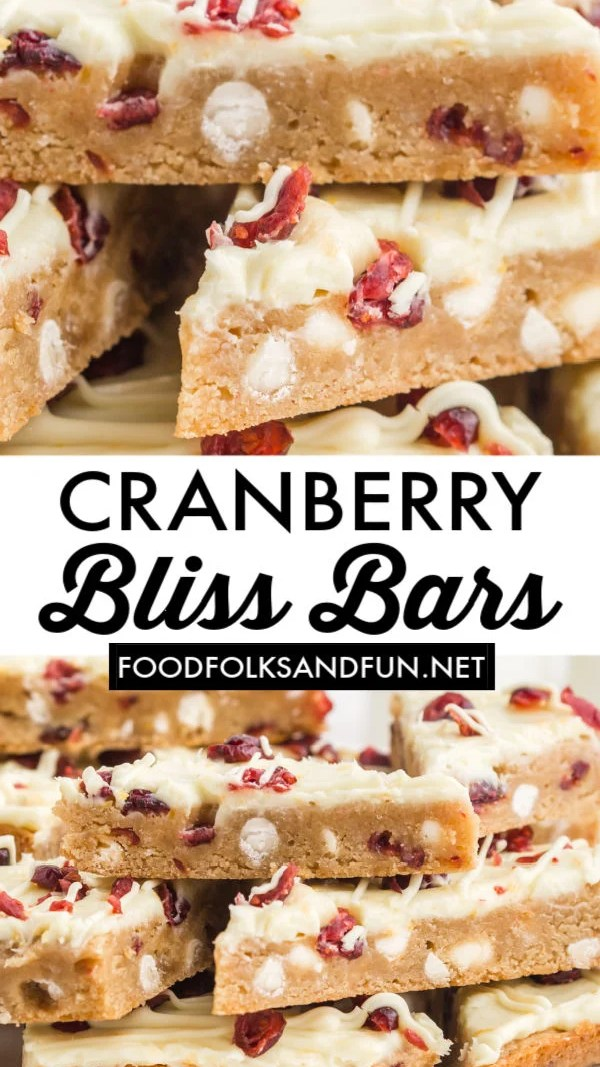 Best Cranberry Bliss Bars