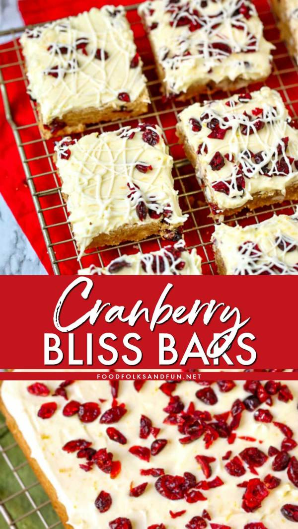 Best Cranberry Bliss Bar