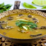 Thai Chicken Soup in a bowl